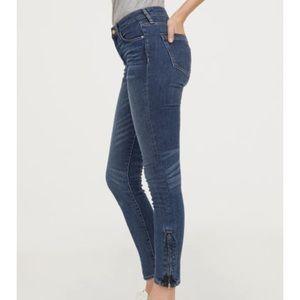 H&M Skinny Ankle Zipper Denim Jeans Jeggings 27